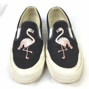 Converse Gray Flamingo Slip On Sneakers Size 6